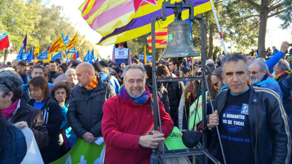 Podemos, Equo y las confluencias presentan un manifiesto contra el Plan Hidrológico del Ebro