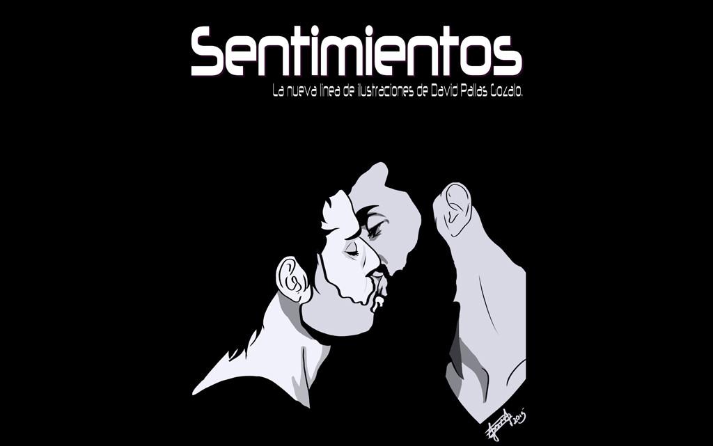 """""""Sentimientos"""", ilustraciones digitales de David Pallás en Cabalá Café"""