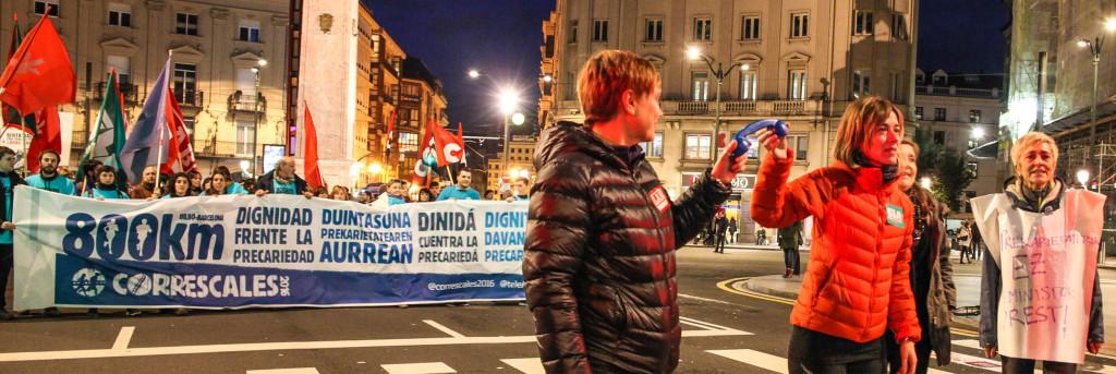 Parte de Bilbo a Barcelona la 'Correscales', la enorme iniciativa contra la precariedad laboral