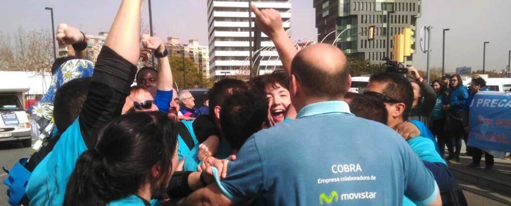 La Marea Blava arriba a Barcelona després de sacsejar les lluites socials locals al seu pas per Catalunya