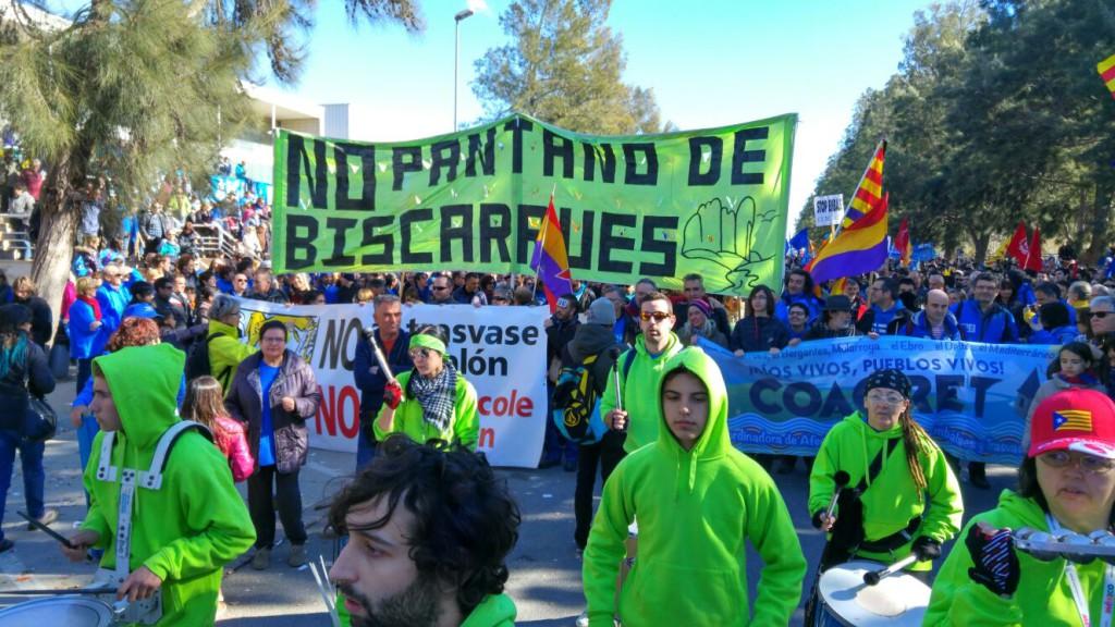 Bloque aragonés en la manifestación de Amposta. Foto: @igoiz17