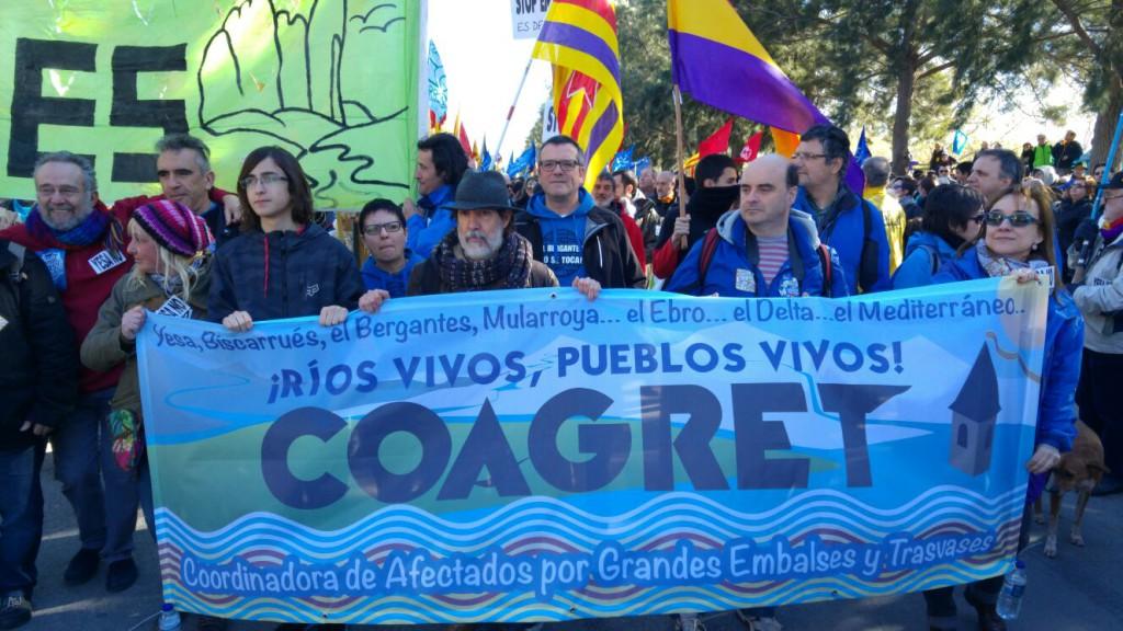 COAGRET se manifiesta en Barcelona contra el Plan de Cuenca del Ebro