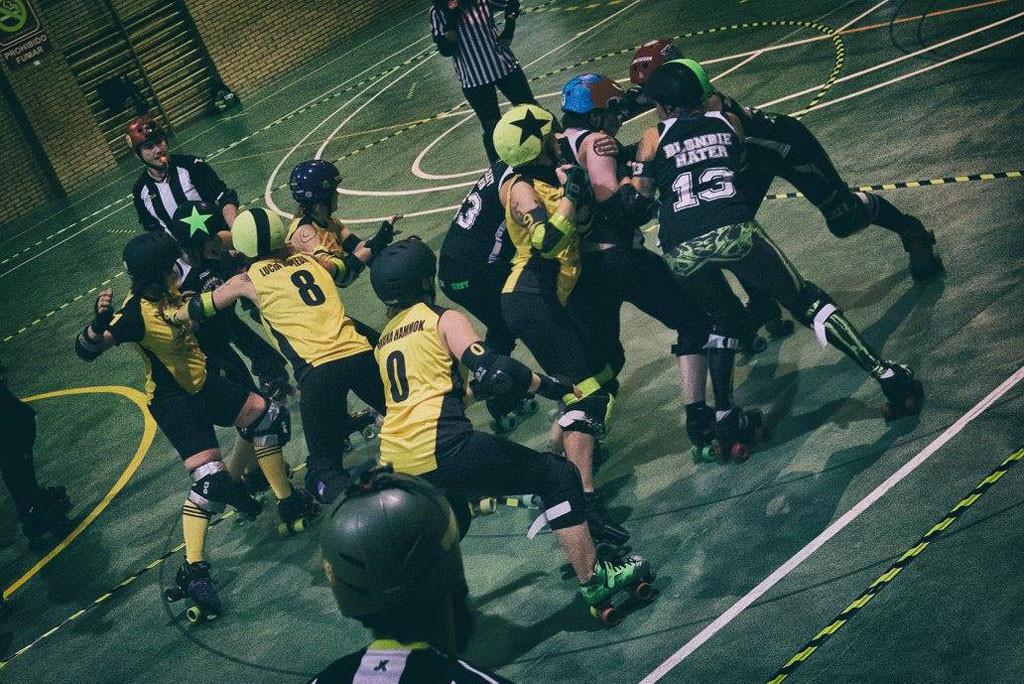 Las Sicarias del Cierzo llegan a Uesca para dar a conocer el Roller Derby