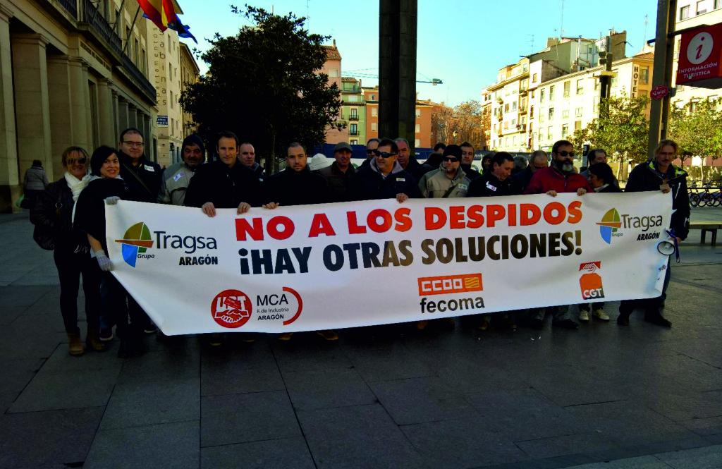 Concentración por la readmisión de despedidos en Tragsa