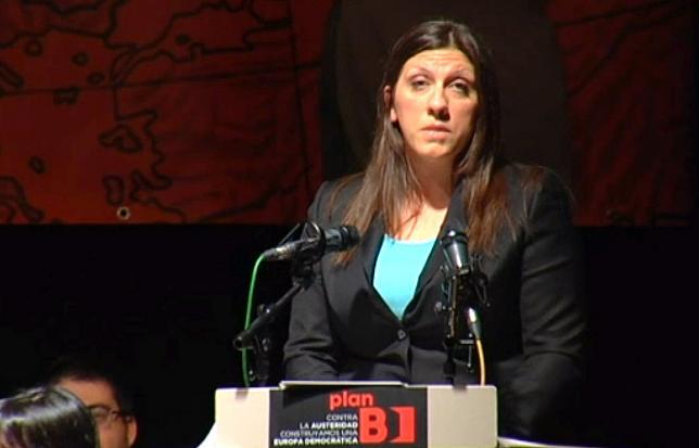 Zoe Konstantopoulou caldea la noche madrileña en la apertura del Plan B