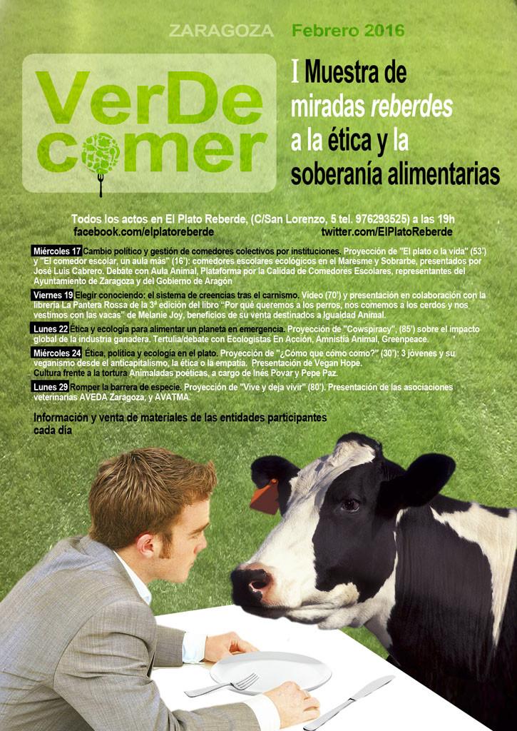 cartel VerDeComer para internet-redes
