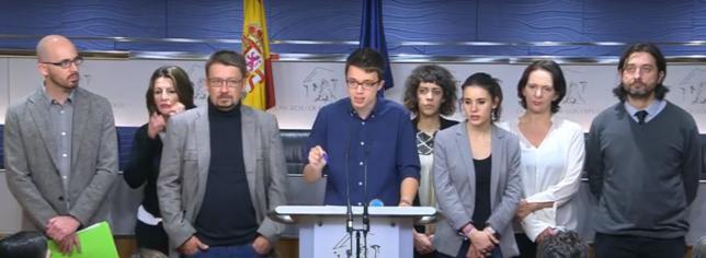 Podemos no acepta el acuerdo propuesto por PSOE y C's y anuncia una investidura fallida