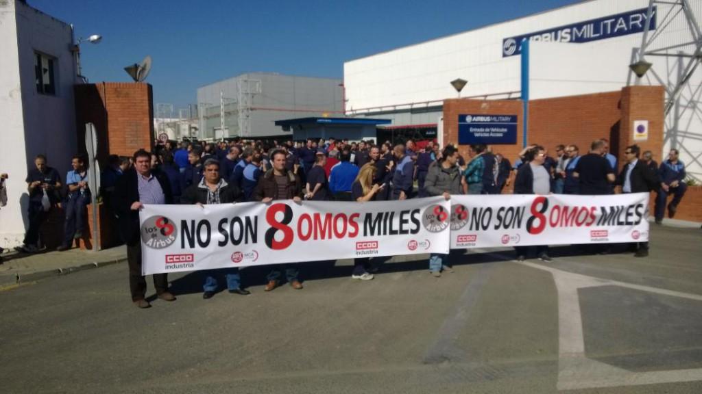 IU Aragón muestra su solidaridad con 'Los 8 de Airbus' y exige la derogación del artículo 315.3 del Código Penal
