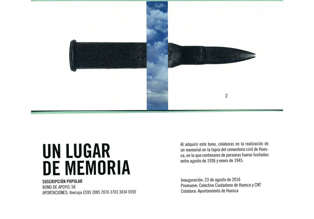 Memorial en Uesca contra el olvido