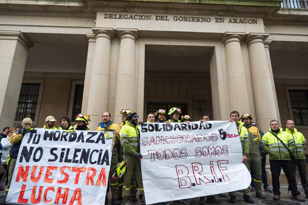 La BRIF Daroca se concentra en Zaragoza contra la represión