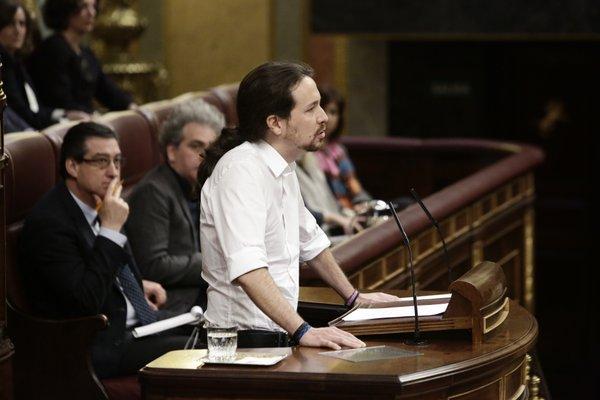 Pablo Iglesias en el Congreso de Madrid. Foto: Congreso