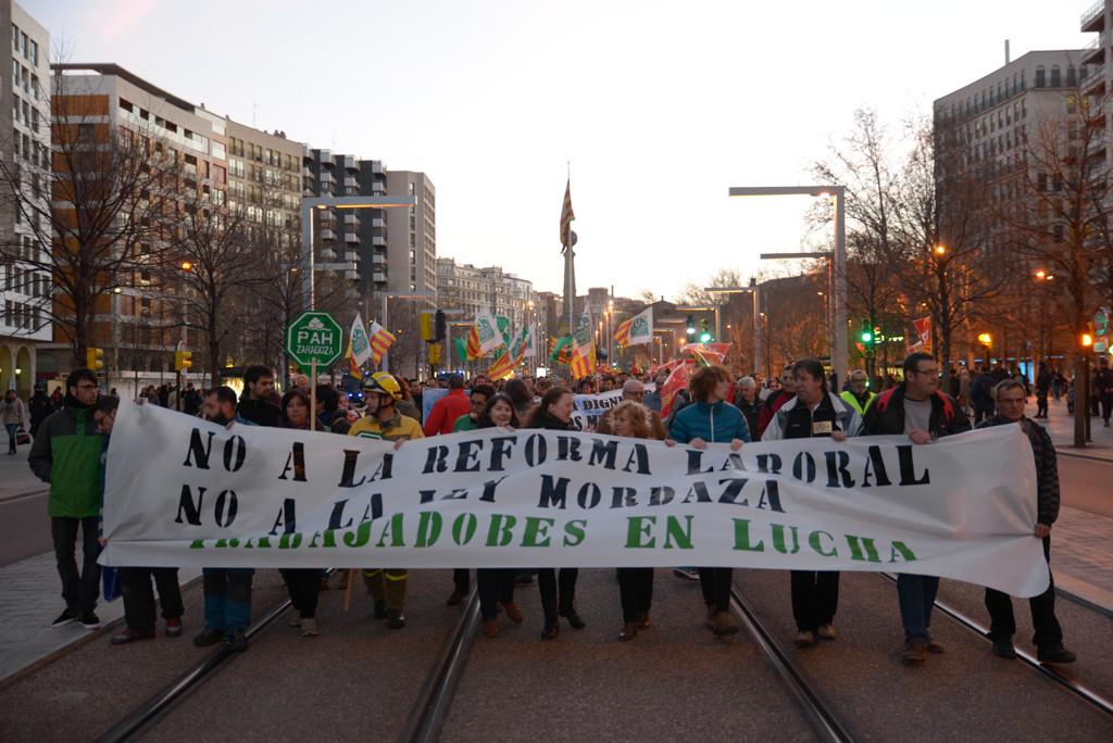 Empresas en lucha contra la reforma laboral y la ley mordaza