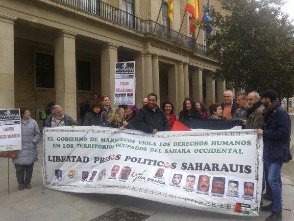 Solidaridad desde Zaragoza con los presos políticos saharauis