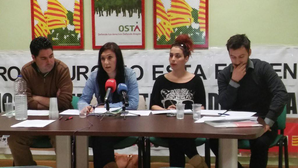 La plantilla de Iberalbion en huelga por el futuro de 300 familias