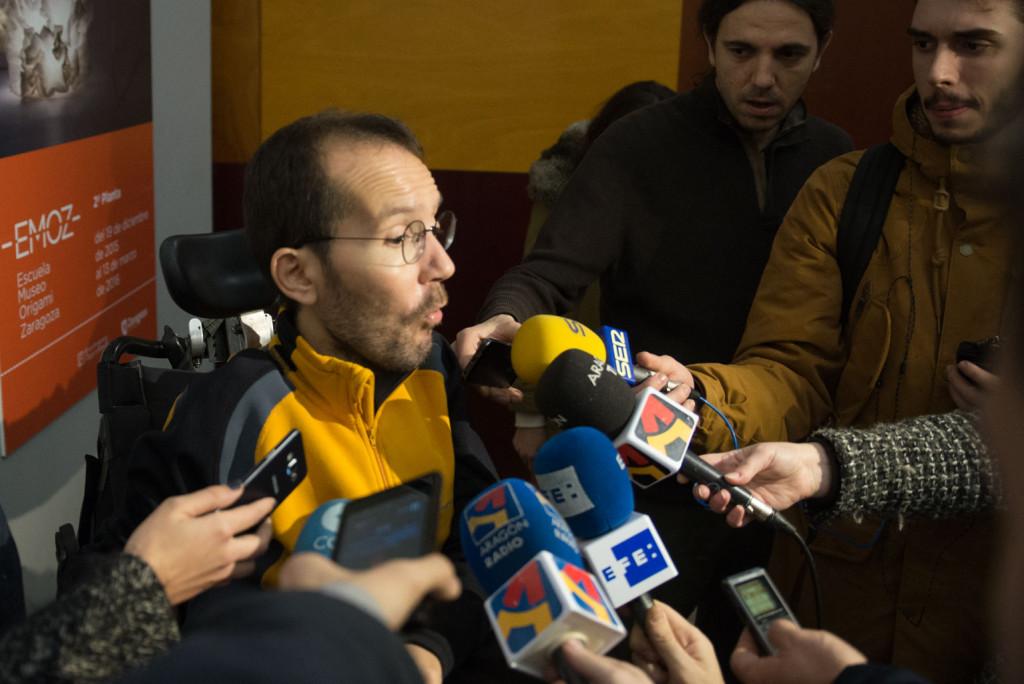 Echenique confía en las posibilidades de Unidos Podemos para ser primera fuerza en Aragón