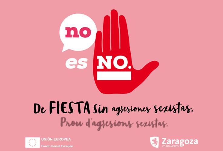 """La campaña """"No es No"""" se extiende a las fiestas de los barrios de Zaragoza"""