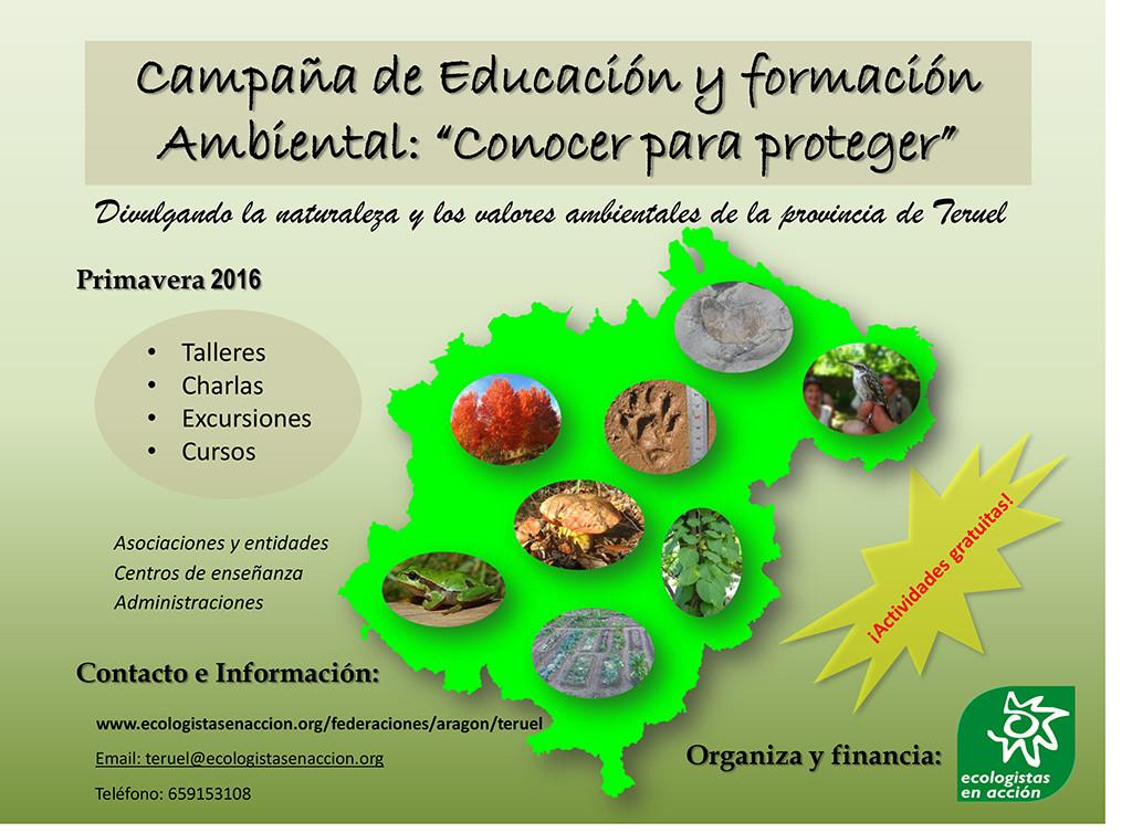 """Campaña de educación y formación ambiental """"Conocer para Proteger"""""""