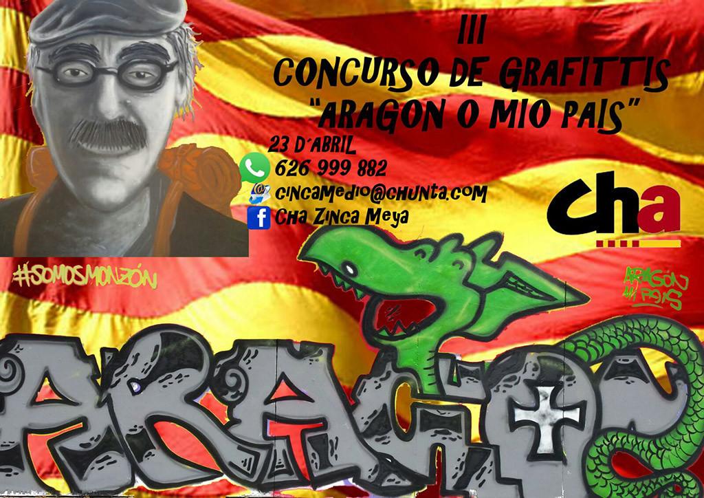 "CHA Cinca Meya organiza el III Concurso de Grafittis ""Aragón o mío país"""