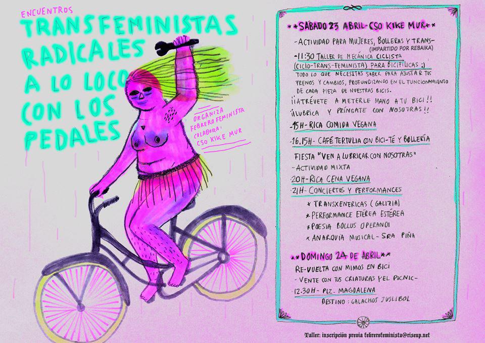 """""""Transfeministas radicales a lo loco con los pedales"""""""