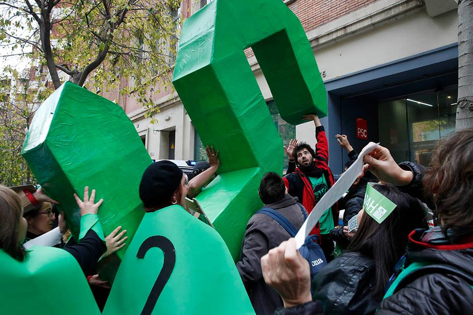 """Las '5 de la PAH' para """"revertir políticas vergonzosas e injustas"""" como la Ley hipotecaria del PP"""