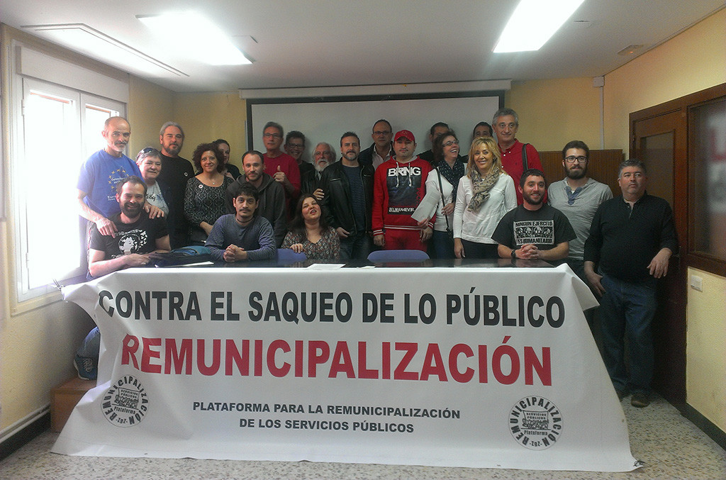 La Plataforma por la Remunicipalización trabajará por la aplicación de un modelo de gestión pública