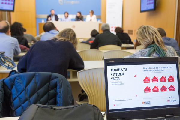 Presentación del Programa de Captación y Movilización de Vivienda Vacía. Foto: Miguel Gracia García