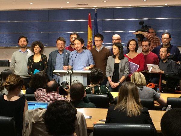 Podemos consultará con sus bases si aceptan el pacto PSOE-Ciudadanos