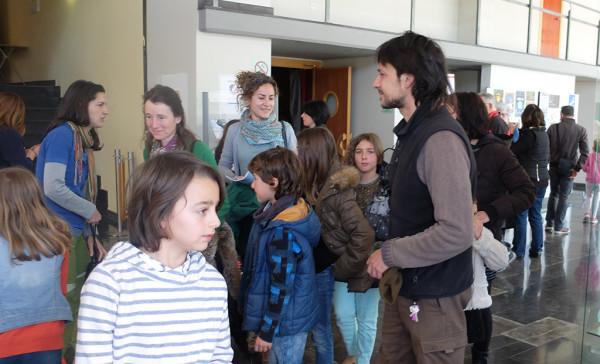 Salida del cine de la programación infantil. Foto: Espiello