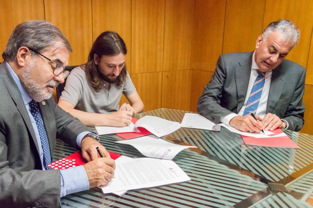 El Ayuntamiento de Zaragoza firma sendos convenios con el Colegio de Administradores de Fincas y con el Colegio de Agentes de Propiedad Inmobiliaria