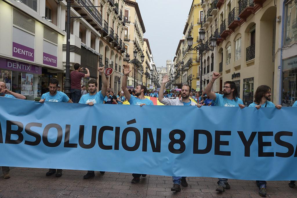 El juicio contra los 8 de Yesa es un claro ejemplo de represión del Partido Popular