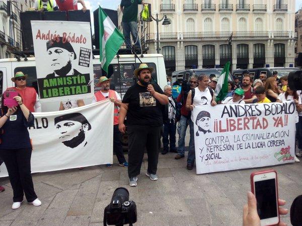 16 miembros del SAT en huelga de hambre para exigir la libertad de Andrés Bódalo