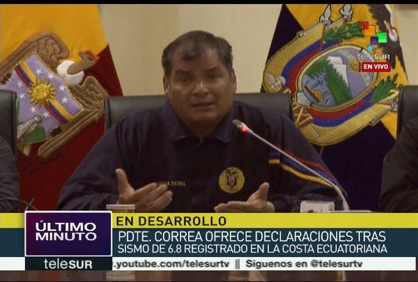 Un terremoto de magnitud 6,8 vuelve a sacudir Ecuador