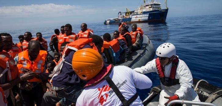 """MSF: """"Aquí estamos otra vez, denunciando las consecuencias de la falta de vías seguras para llegar a Europa"""""""