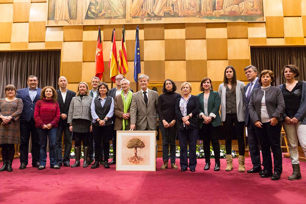 Acto de entrega de la distinción 'Estrella de Europa' a la FAS, en el Ayuntamiento de Zaragoza. Foto: Miguel Gracia García