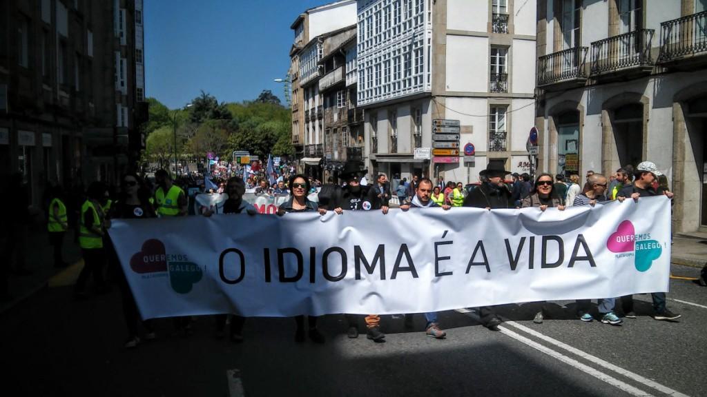 Cabecera de la manifestación. Foto: Praza Pública (CC BY-SA)