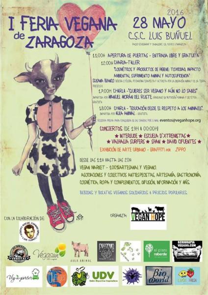 I Feria Vegana en Zaragoza, organizada por Vegan Hope