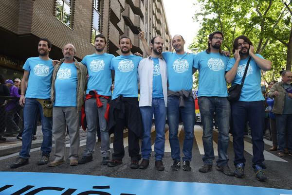 Los 8 de Yesa. Foto: Pablo Ibáñez (AraInfo)
