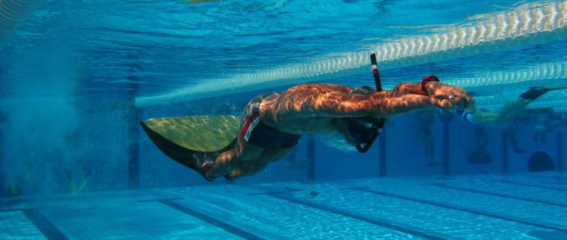 H jar asiste al xlv campeonato de arag n de nataci n con for Aletas natacion piscina