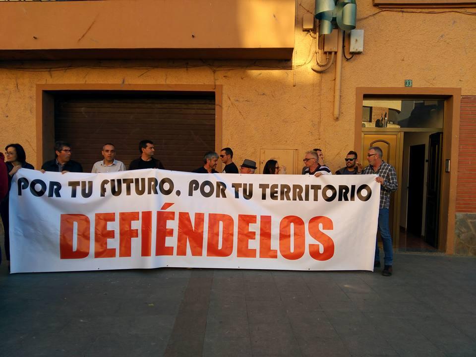 Manifestación en Andorra reclamando futuro para el territorio de las comarcas mineras.