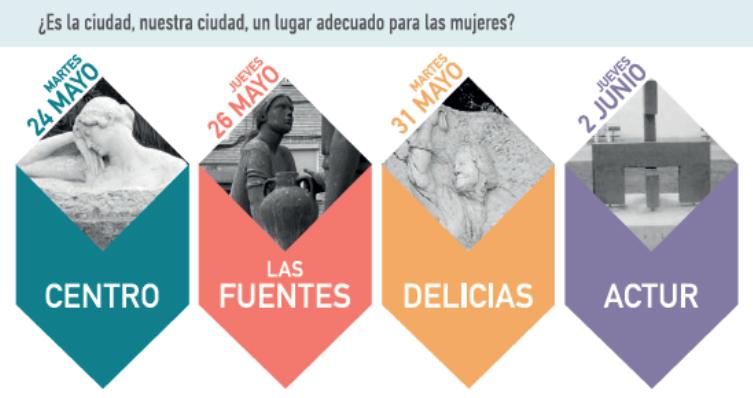 Nuevos paseos por los barrios nos descubren la Zaragoza de las Mujeres