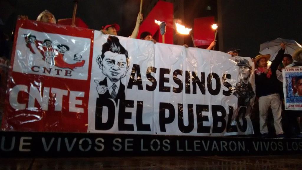 CGT denuncia la matanza de maestros en Oaxaca, México