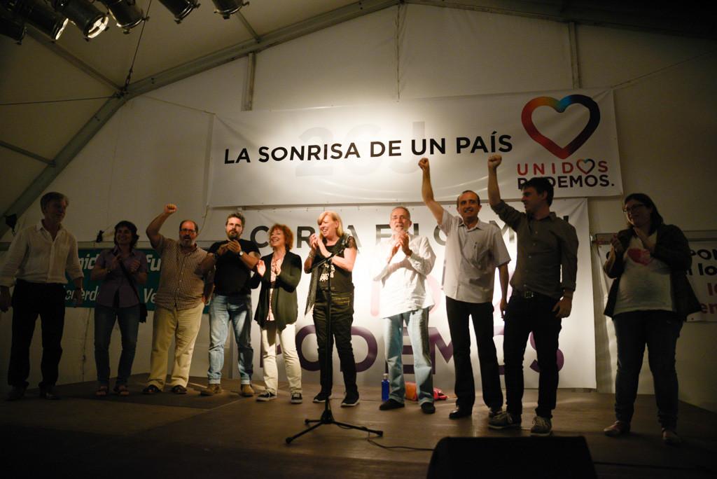 Noche electoral de Unidos Podemos Aragón el pasado 26J. Foto: Pablo Ibáñez (AraInfo)