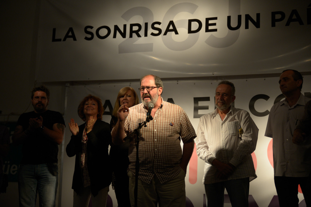 26J Noche electoral Unidos Podemos Aragón Foto Pablo Ibáñez ARAINFO (9)