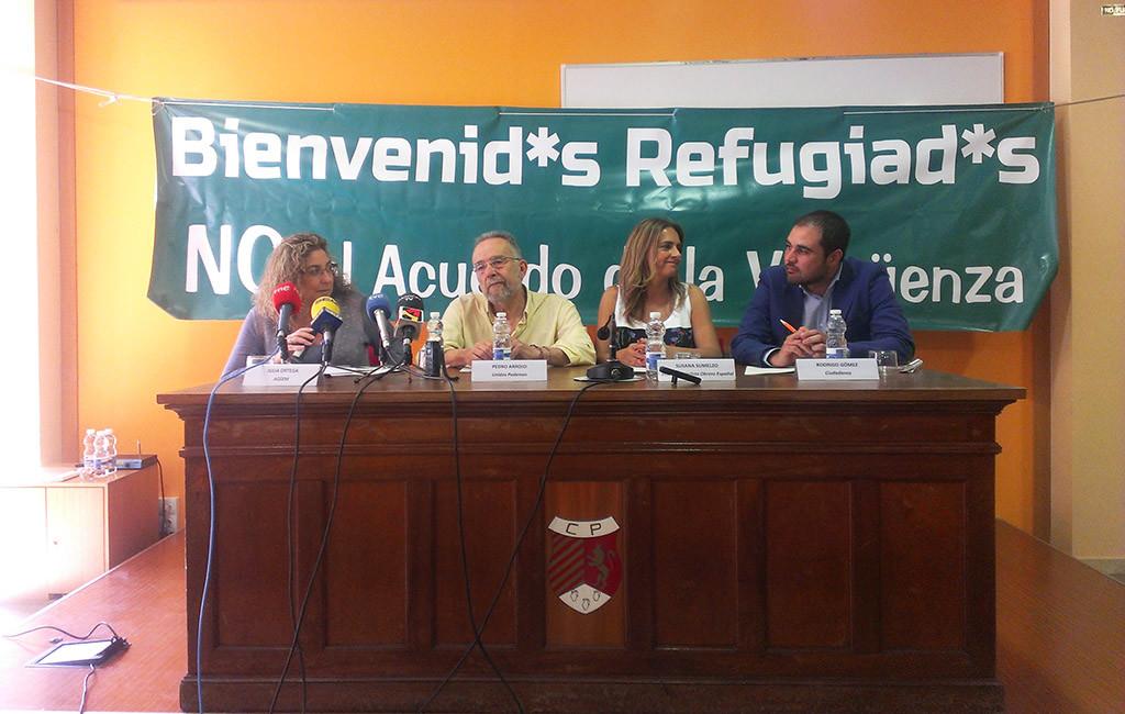 Unidos Podemos, PSOE y Ciudadanos firman un acuerdo por los derechos de las personas migrantes y refugiadas