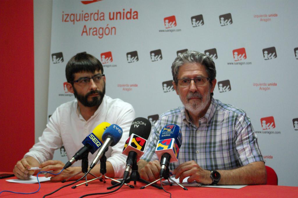 Alvaro Sanz y Adolfo Barrena. Foto: Miguel Ángel Conejos (AraInfo).