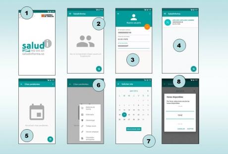 Una aplicación móvil permite pedir cita previa con el médico de Atención Primaria