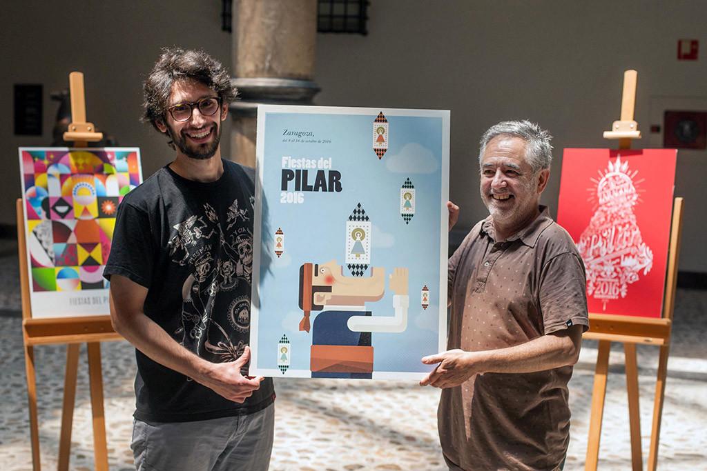 Los zaragozanos Miguel Frago y Samuel Aznar, ganadores del concurso del Cartel de las Fiestas del Pilar 2016