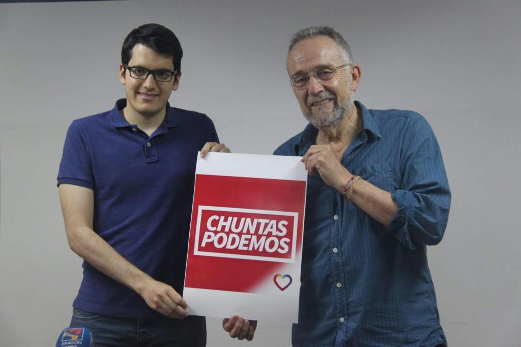 """Unidos Podemos añade  """"alma aragonesa"""" tras su acuerdo con Puyalón"""