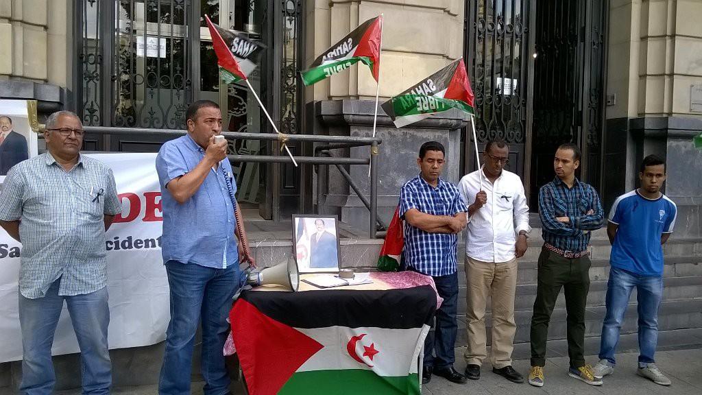 Una concentración en Zaragoza, el último homenaje a Mohamed Abdelaziz