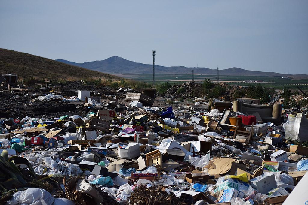 Estado de la escombrera de Ricla. Foto: Amigos de la Tierra Aragón